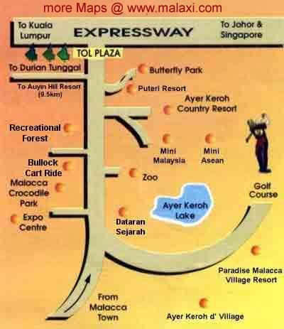 Malaysia Melaka Malacca map peta