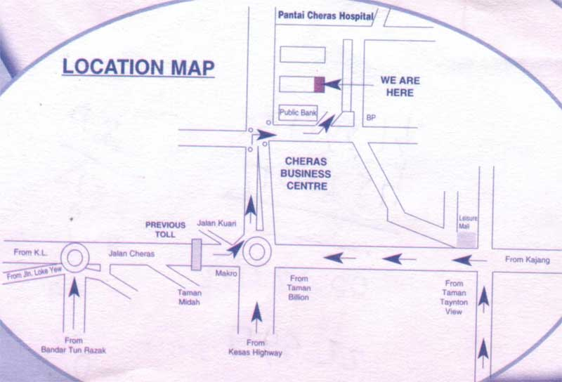 Jalan Cheras location map