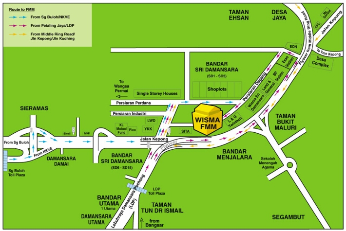 Bandar Sri Damansara location map