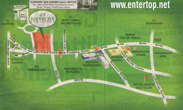 Damansara location map