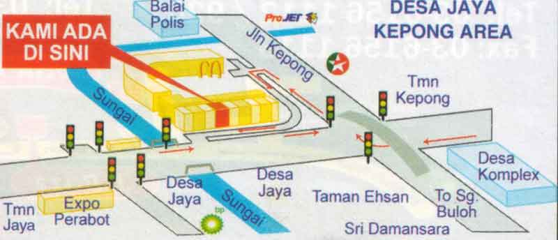 Kepong location map