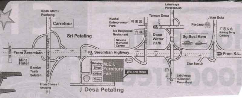 KL Seremban Highway location map