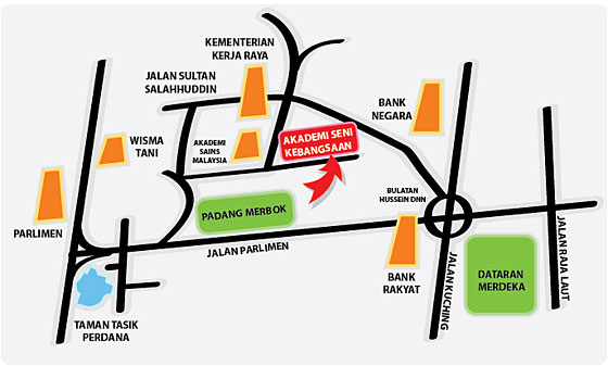 Jalan parliment map