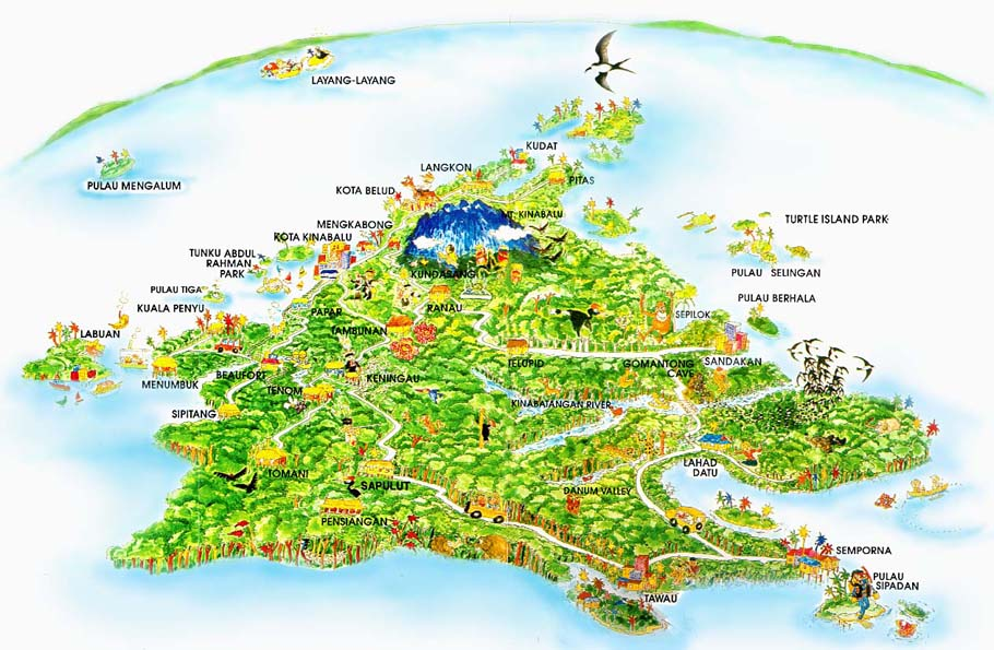 Malaysia Sabah Map full View location map