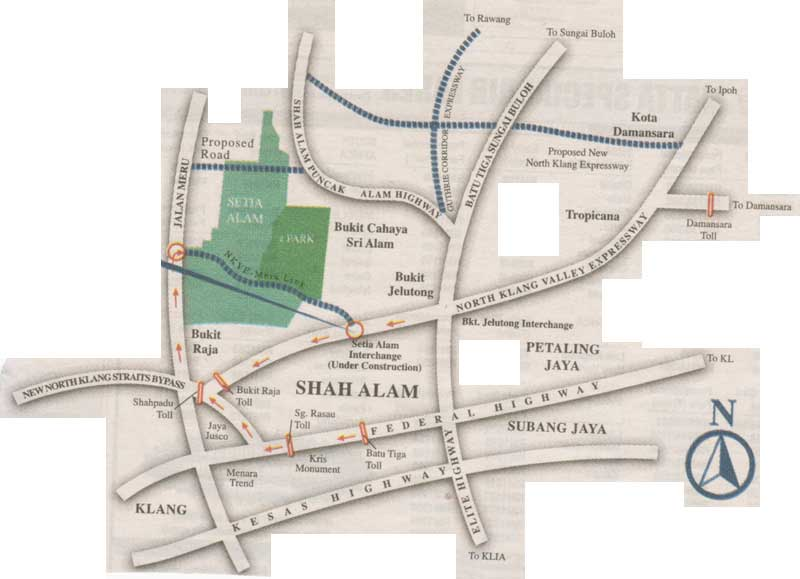 Shah Alam Map location map