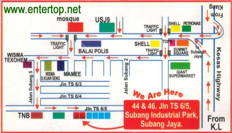 Subang Jaya Map City map Street map direction map location map