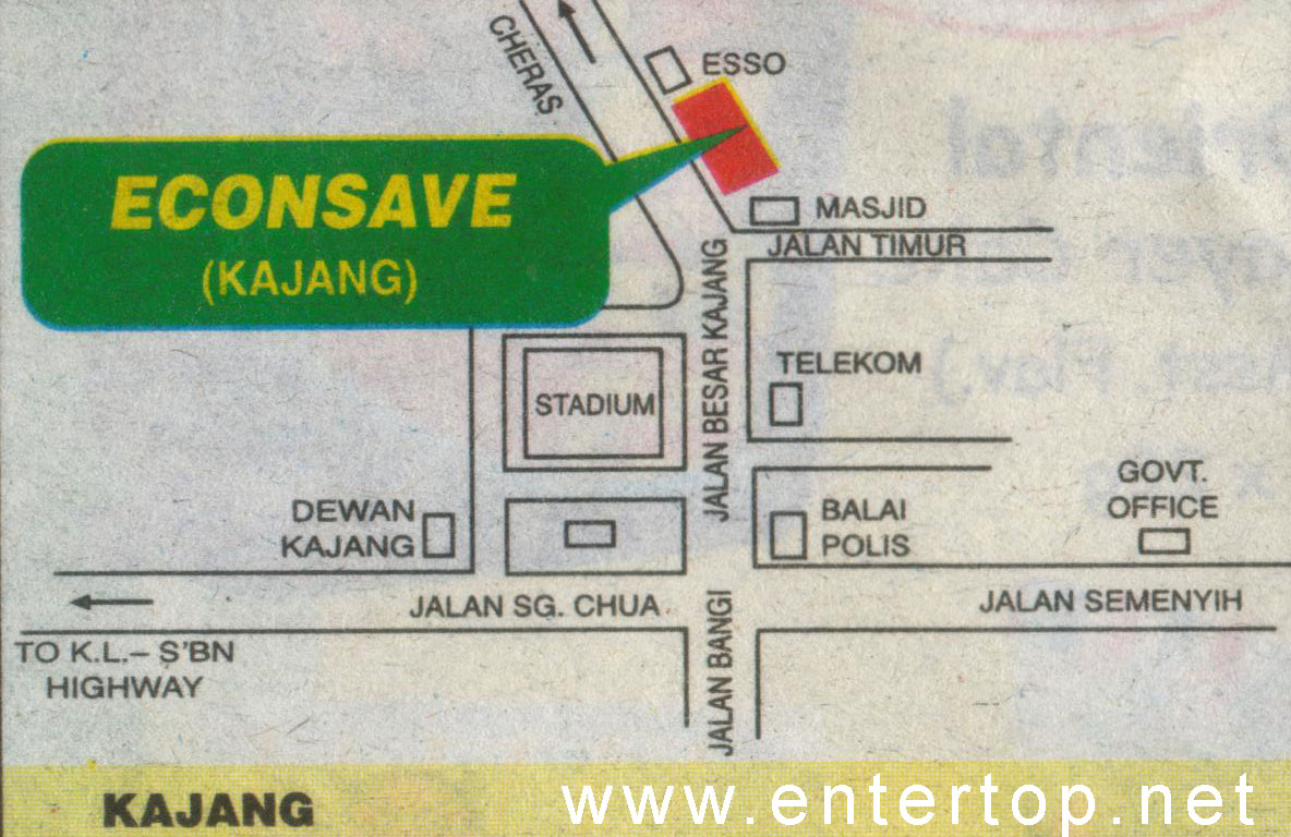 Kajang location map