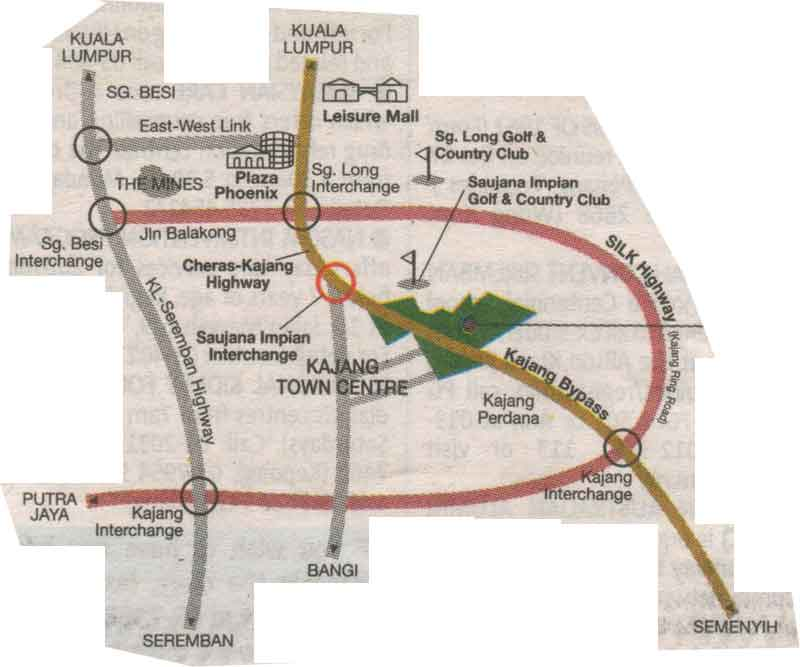 Kajang, City map, Street map, direction map, location map, road map