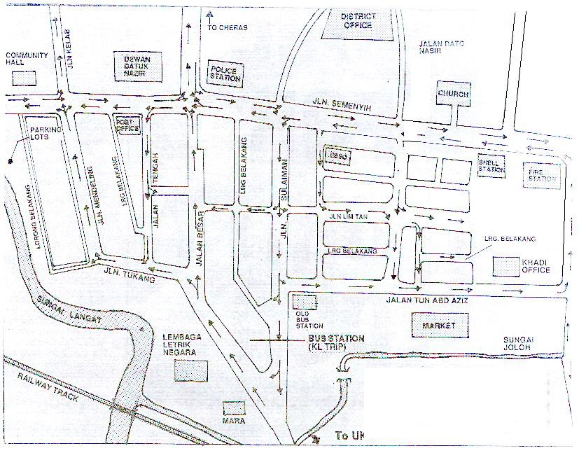 Kajang Town map, City map, Street map, direction map, location map ...