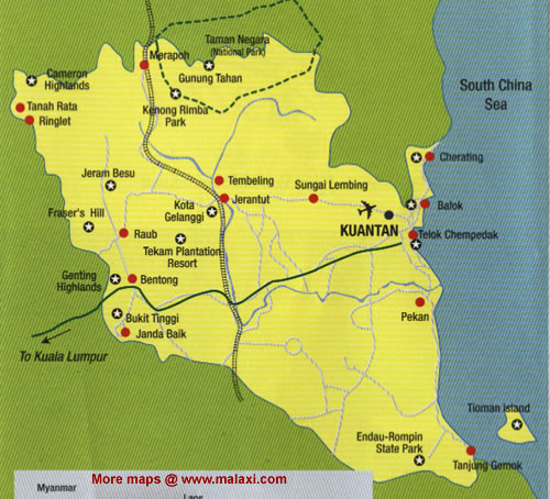 Image result for pahang map
