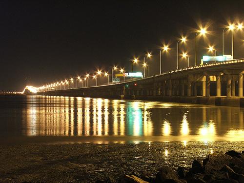Ночной Вид Моста Пенанг