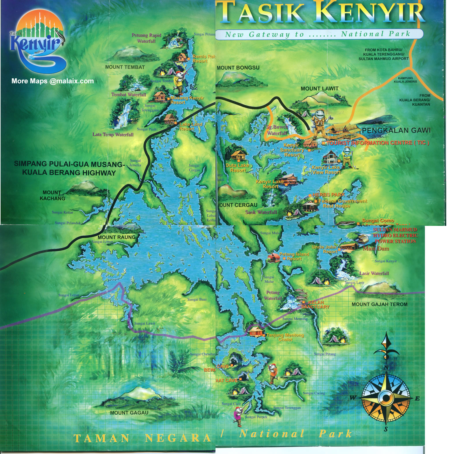 Kenyir Lake Map