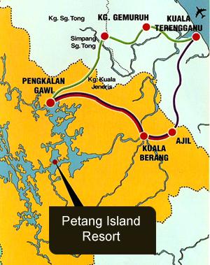 petang island resort location maps map of