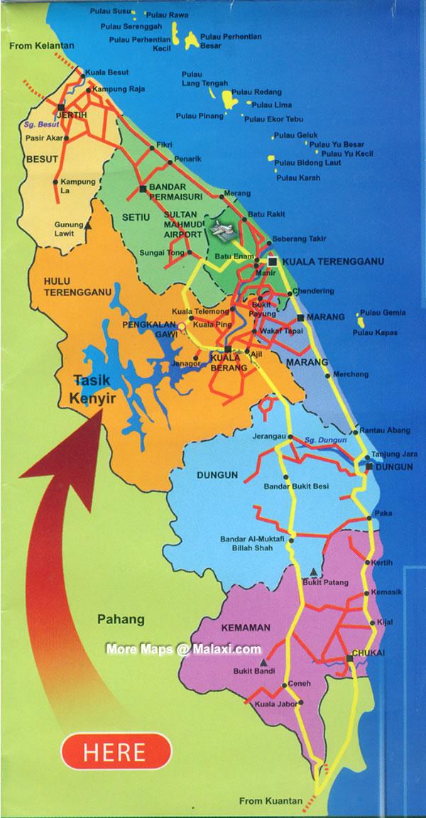 Kenyir Lake Map