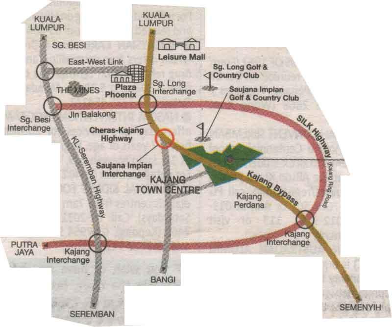 Kajang, City map, Street map, direction map, location map, road map