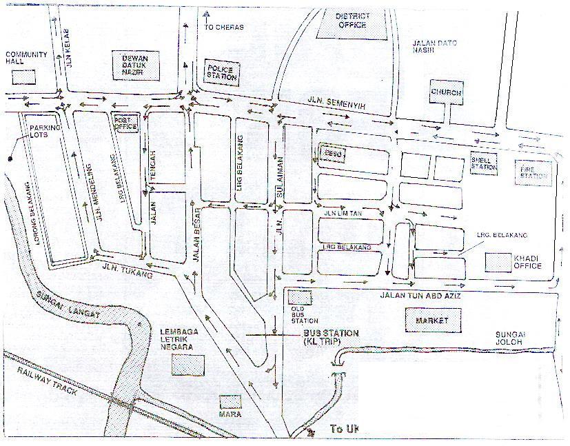 Kajang Town map, City map, Street map, direction map, location map ...